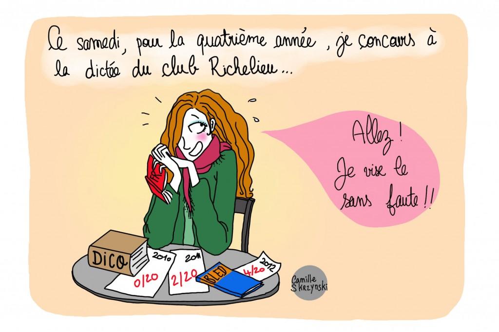 La dict e du club richelieu alen on camille blog bd - Camille dessin ...