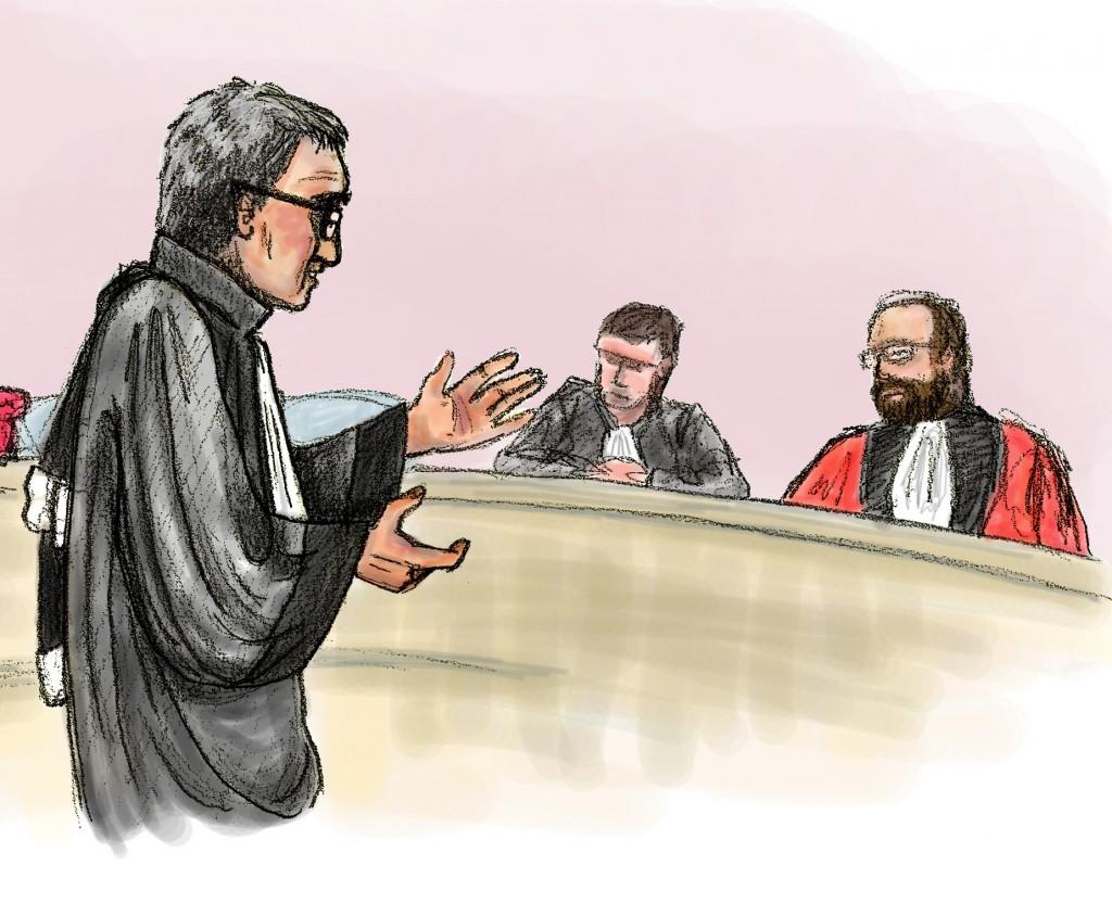 Détail dessin judiciaire - Droits d'auteur : Camille Skrzynski