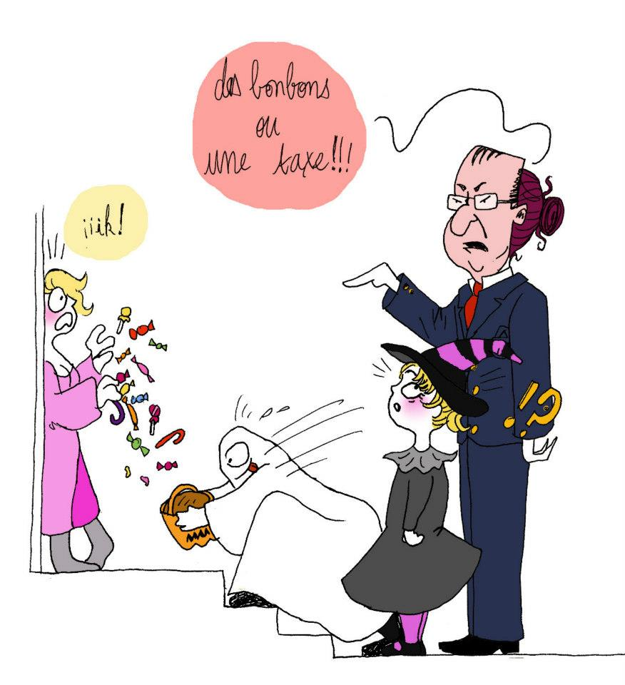 halloween francois hollande - Droits d'auteur : Camille Skrzynski