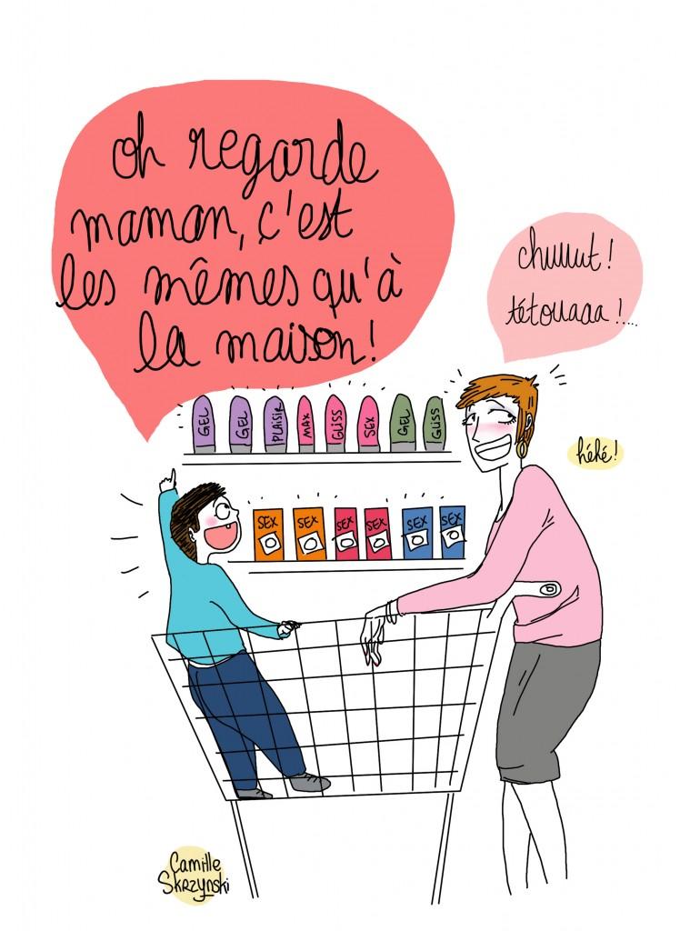Supermarche parents imparfaits - Droits d'auteur : Camille Skrzynski