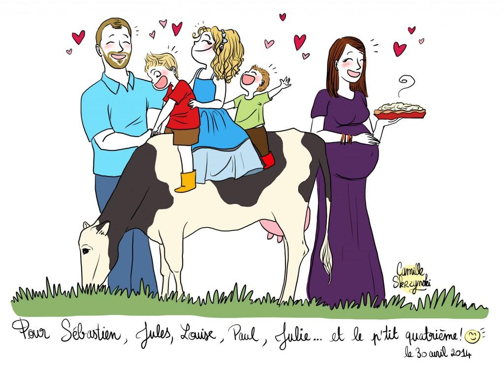 La famille de Julie number one - Droits d'auteur : Camille Skrzynski