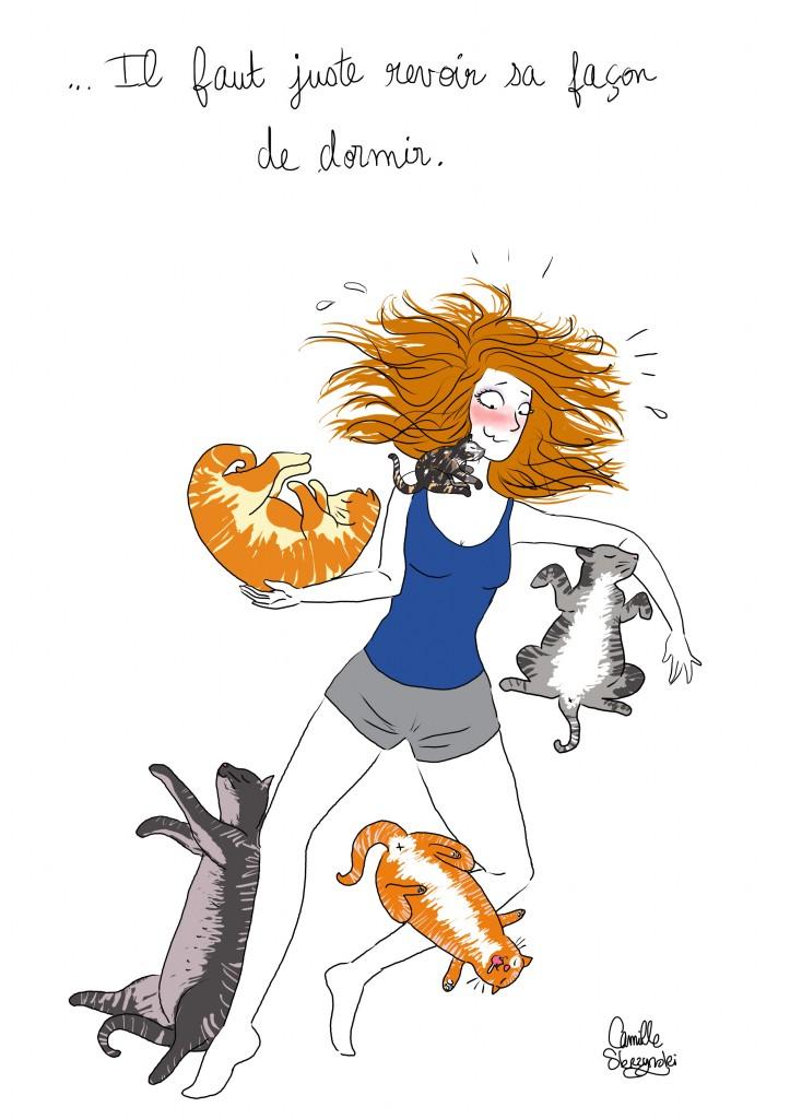 cinq chats - Droits d'auteur : Camille Skrzynski