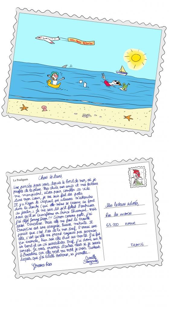 carte postale illustrée - Droits d'auteur : Camille skrzynski