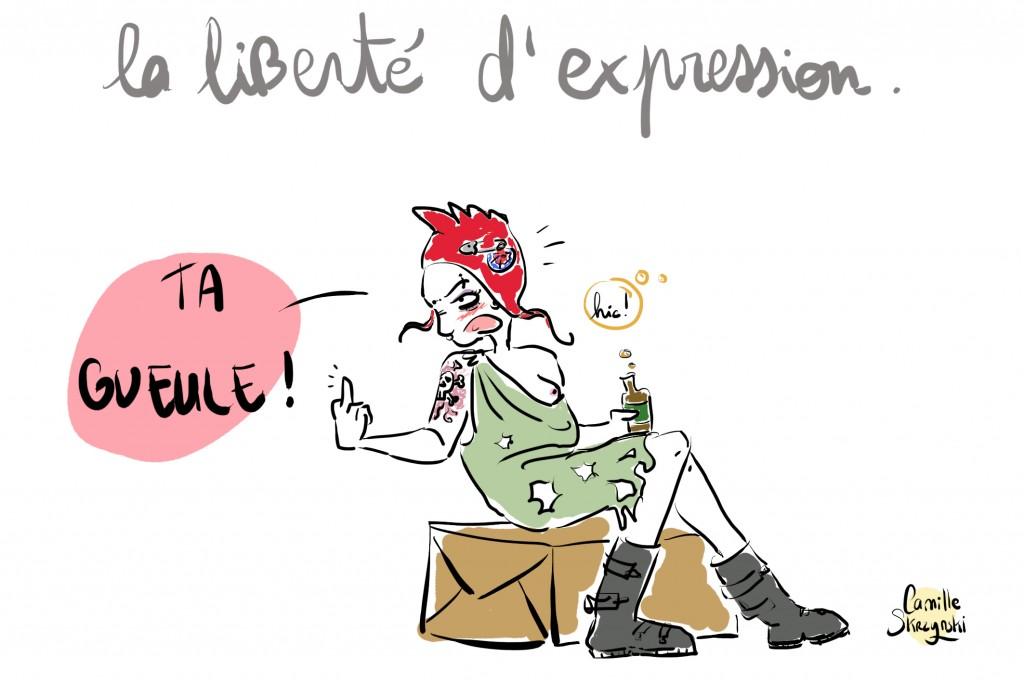 liberte dexpression Marianne punk - Droits d'auteur : Camille Skrzynski