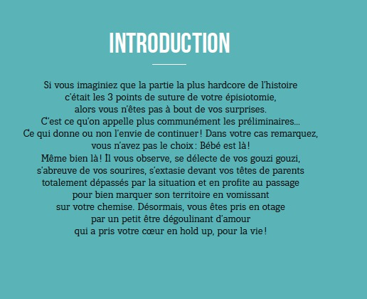 Introduction Bébé - le guide décapant des Parents Imparfaits