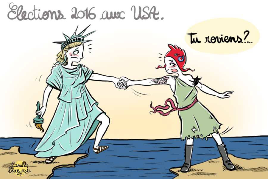 Marianne punk_statue liberte_elections usa trump - droits d'auteur : Camille Skrzynski