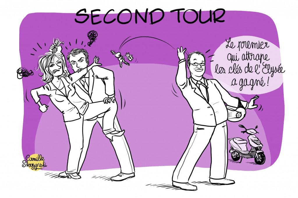 dessin presse second tour france président - Droits d'auteur : Camille Skrzynski