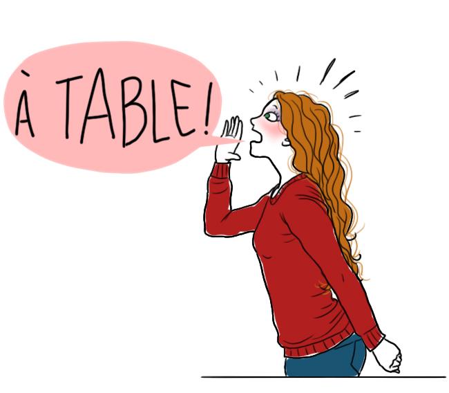 A table - Droits d'auteur : Camille Skrzynski